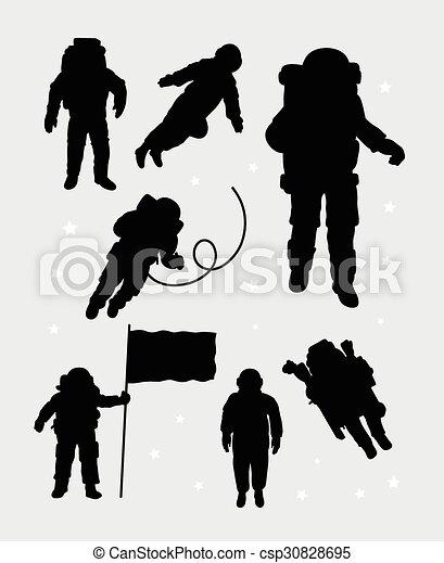 Astronaut silhouettes - csp30828695