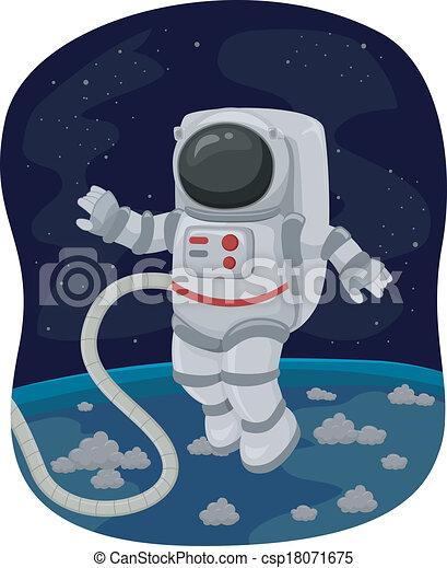 Astronaut Space Walk - csp18071675