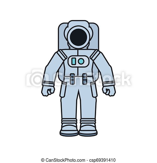 astronaut suit isolated icon