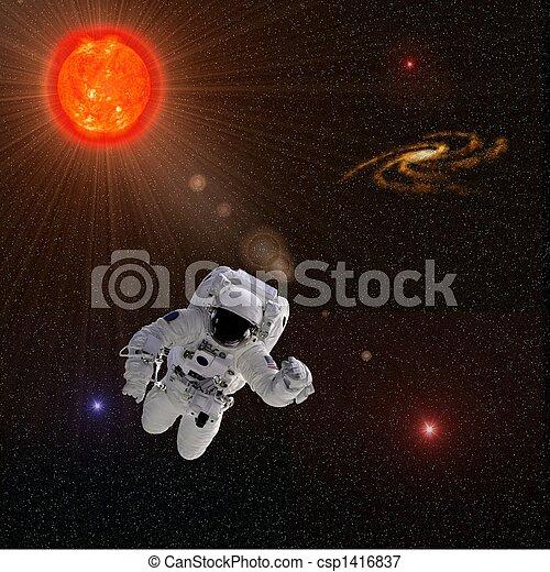 Astronaut Sun Stars - csp1416837