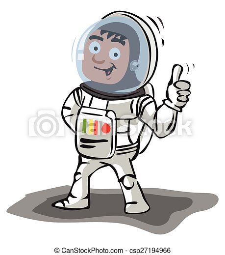 Astronaut thumb up - csp27194966