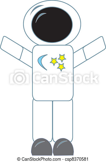 Astronaut Simple Drawing Of An Astronaut Figure In A Space Suit