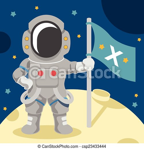 Astronaut vector flat illustration - csp23433444