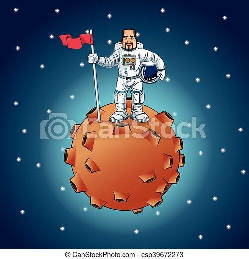 Astronauta disegno cartone animato spazio cosmonauta colorito