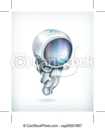 icono vector astronauta - csp29301887