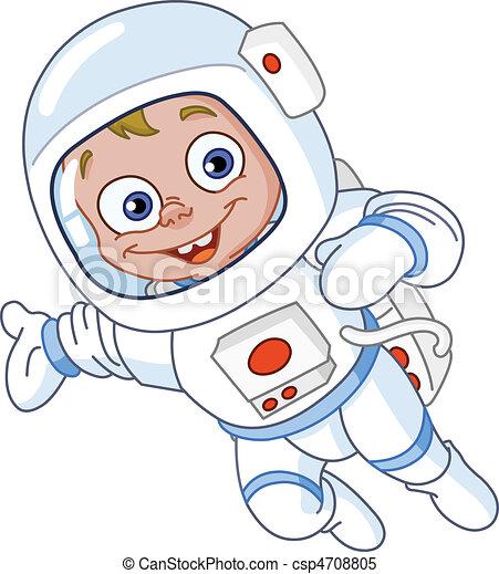 astronauta, młody - csp4708805