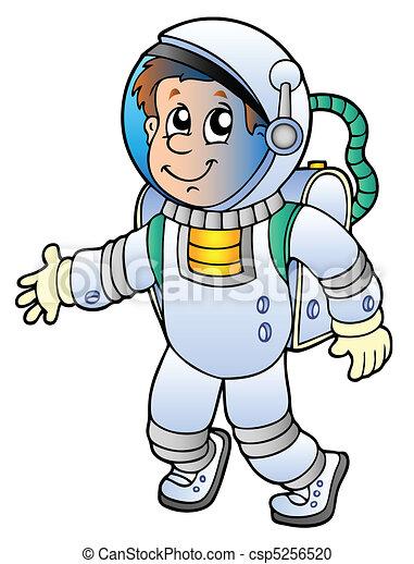 astronaute, dessin animé - csp5256520