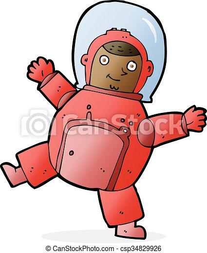 astronaute, dessin animé - csp34829926