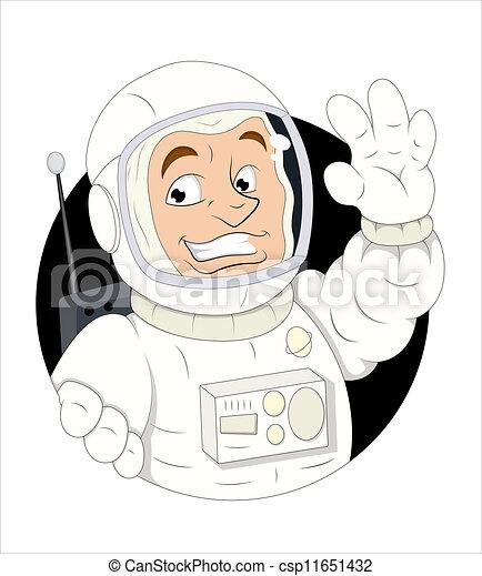 astronaute, dessin animé - csp11651432