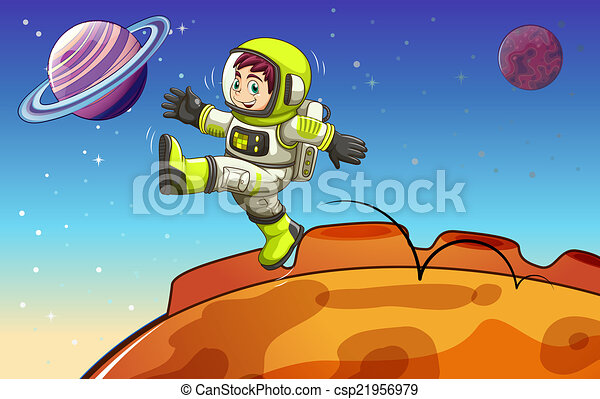 astronaute, outerspace - csp21956979