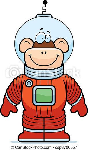 astronaute, singe - csp3700557