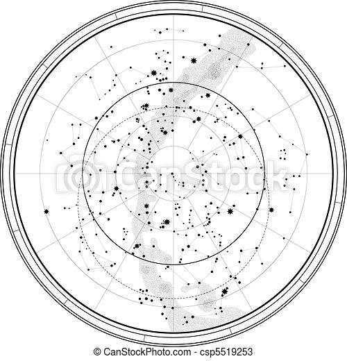 Astronomical Celestial Map - csp5519253