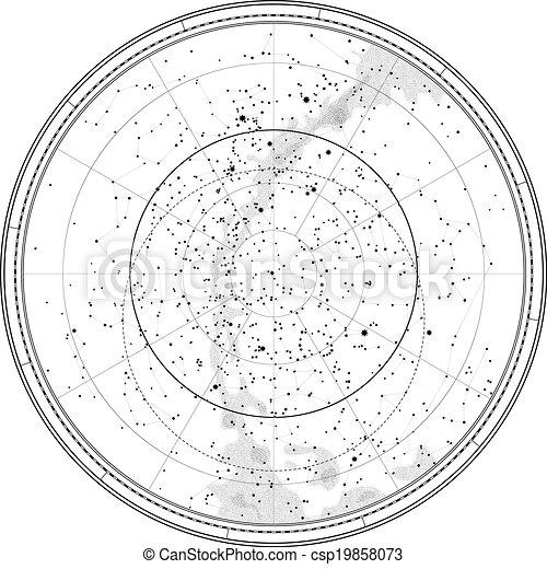Astronomical Celestial Map - csp19858073