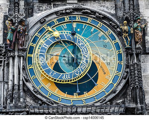 Astronomical clock - Praha landmark - csp14006145