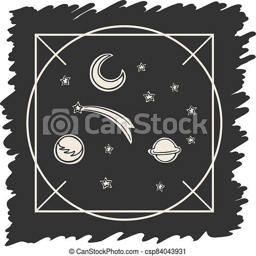 astronomy art draw - csp84043931