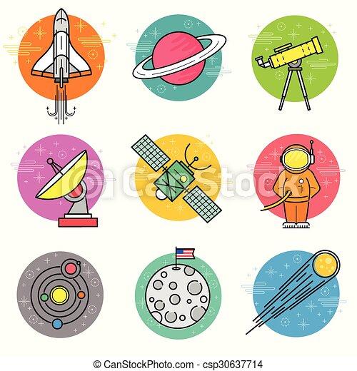 Astronomy Vector Icon Set