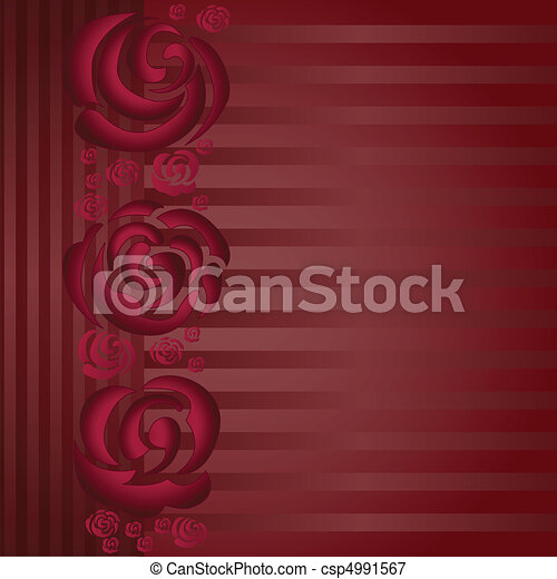 Asymmetric background with roses - csp4991567