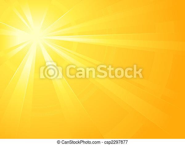asymmetrisch, zon ontsteken, barsten - csp2297877