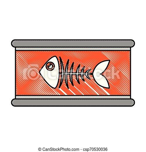 El atún puede con esqueleto de fisno - csp70530036