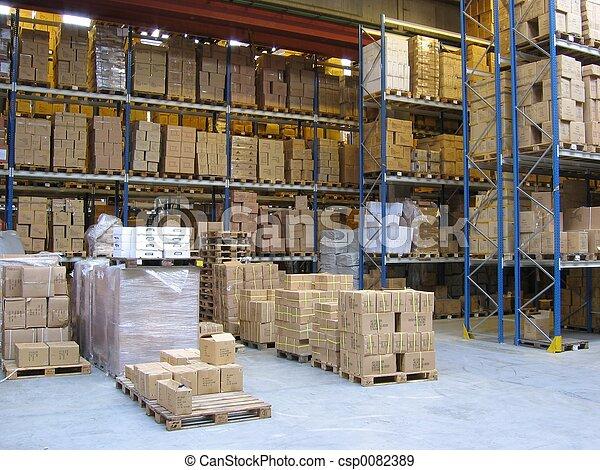 At A Warehouse - csp0082389