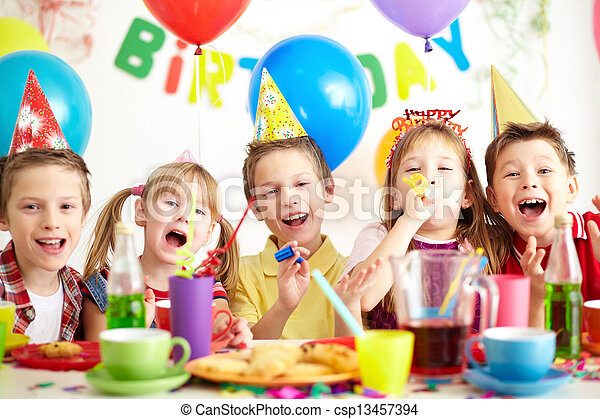 At birthday party - csp13457394