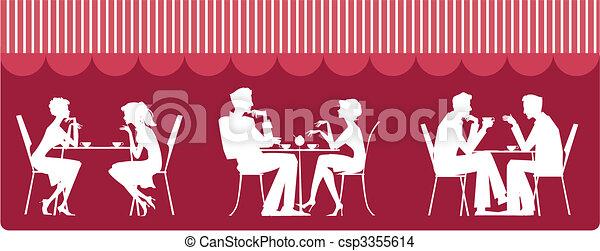 At cafe - csp3355614