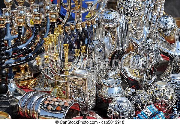 At Flea Market in Jerusalem - csp5013918