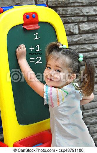 At Preschool Learning Math - csp43791188