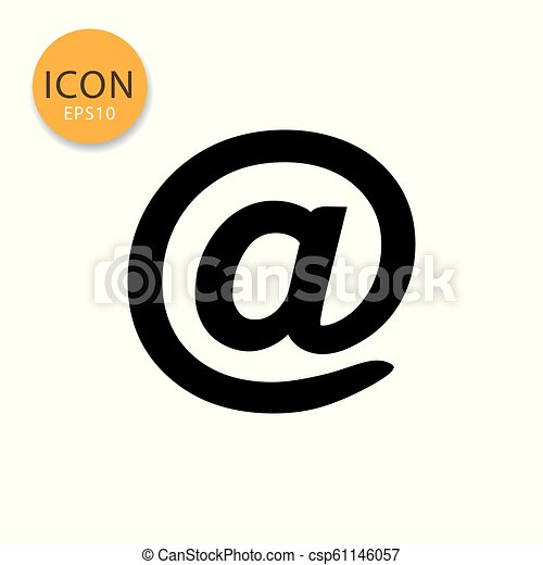 At sign mail icon on white background. - csp61146057
