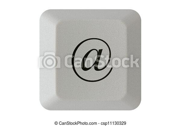 At Symbol Keyboard Button Computer Keyboard Key With E Mail Symbol