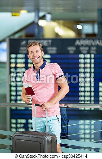 At the airport - csp30425414