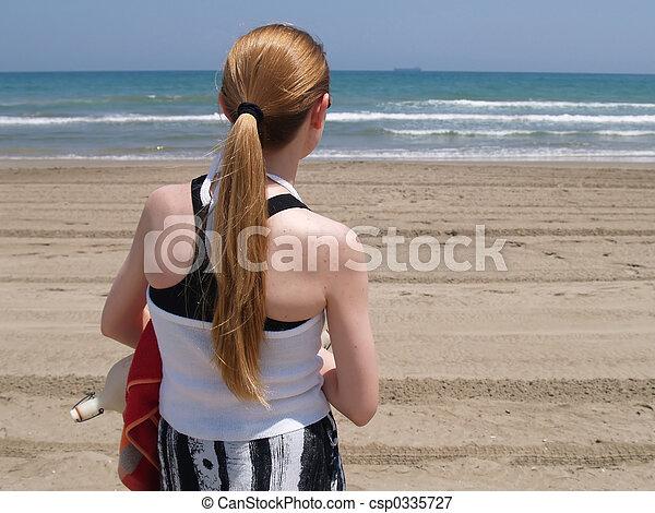 At the beach - csp0335727