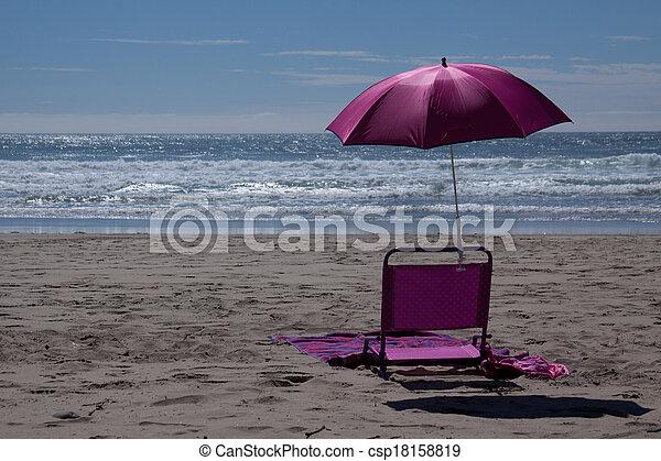At the Beach - csp18158819