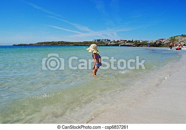 at the beach - csp6837261