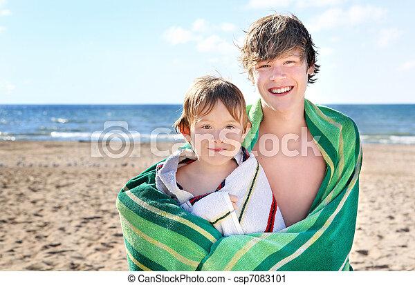 At the beach - csp7083101