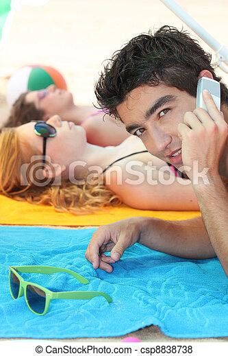 at the beach - csp8838738