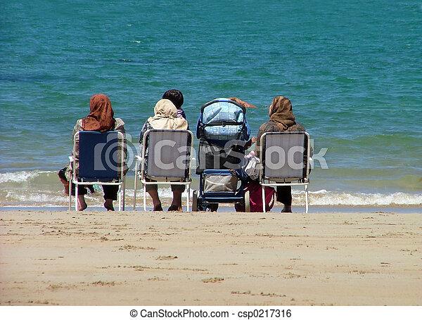 At the beach - csp0217316