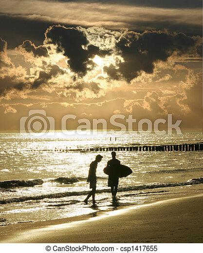 At the beach - csp1417655