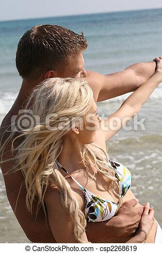At the beach - csp2268619