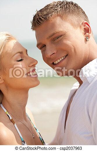 At the beach - csp2037963