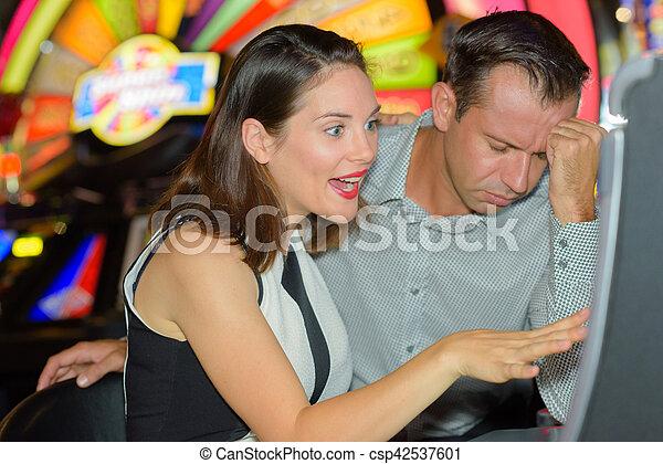 at the casino - csp42537601