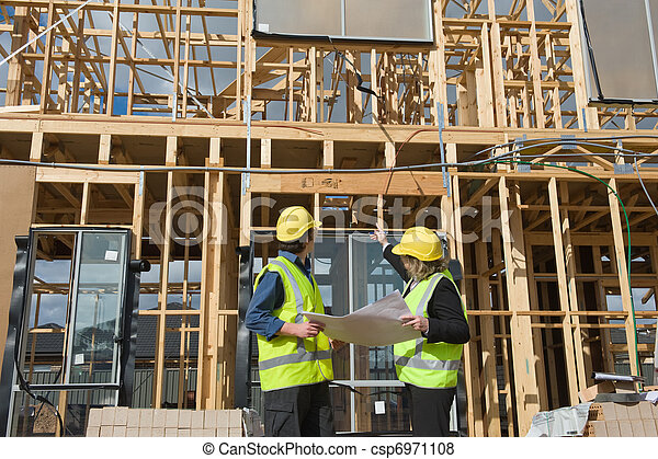 at the construction site - csp6971108