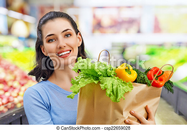 at the grocery store - csp22659028