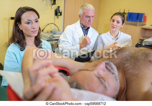 at the hospital - csp59569712