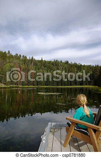 At the Lake - csp0781880
