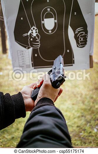 At The Shooting Range - csp55175174