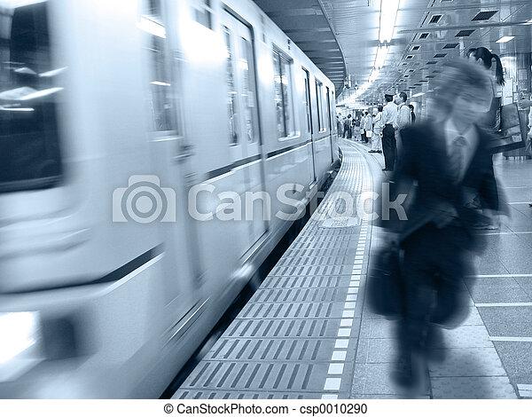 At the train statio - csp0010290