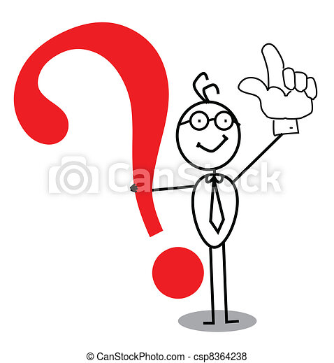 atenção, pergunta, negócio, marca - csp8364238