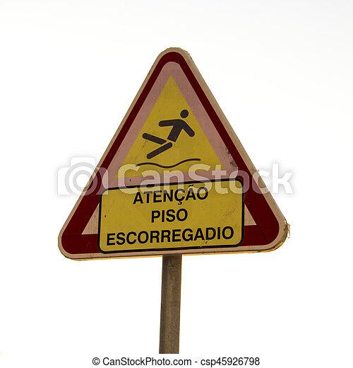 Atención piso resbaladizo - csp45926798