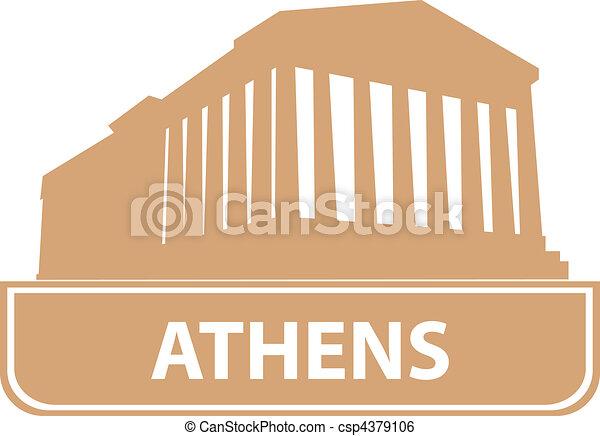atene, contorno - csp4379106